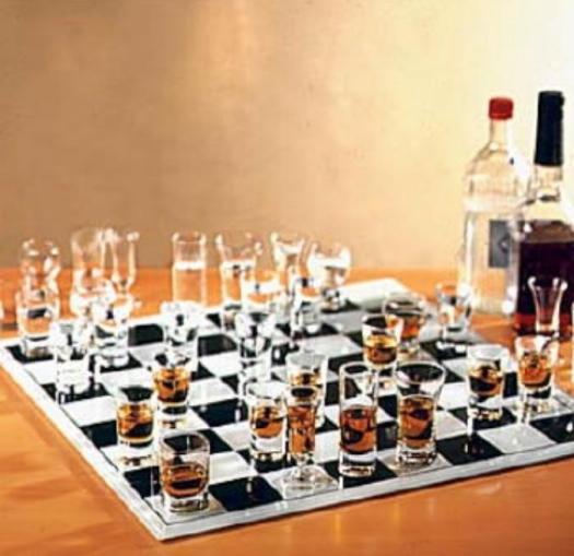 Un verre pour jouer aux échecs ça va ! Beaucoup, bonjour les dégâts !